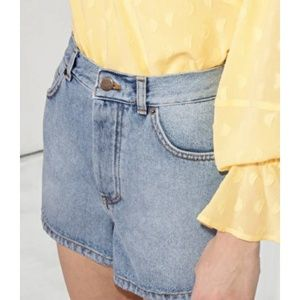 •& OTHER STORIES• High Waisted Denim Shorts.